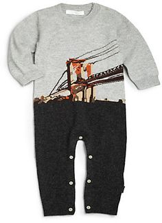 82ce63421cfd Burberry Infant s Brooklyn Bridge Cashmere Coverall Gender Neutral Baby