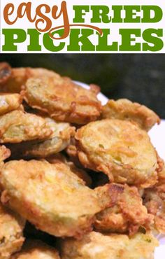 Fried Pickles just like at the state fair but easy to make at home! Youll love these simple Fried Pickles! Easy Fried Pickles, How To Fry Pickles, Easy Cooking, Cooking Recipes, Veggie Fries, Vegan Recipes Easy, Protein Recipes, Appetizer Recipes, Amigurumi