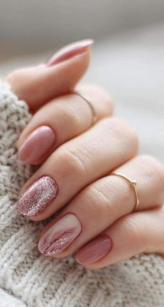 Best Winter Nail Art Ideas 2019 - Page 9 of Finest Winter Nail Artwork Concepts 2019 - Web page 9 of 63 nails;, Nageldesign Best Winter Nail Art Ideas 2019 - Page 9 of 63 Pretty Nails, Cute Nails, My Nails, Acrylic Nail Designs, Acrylic Nails, Coffin Nails, Glitter Gel Nails, Shellac Nails Fall, Blush Nails