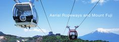 Hakone Ropeway near Mount Fuji. Leads to the top of a mountain north of Mount Fuji, where you can wander around and explore the beautiful Fuji scenery. Make sure you go on a clear day!
