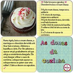Cobertura para cupcakes: Chocolate branco e cream cheese