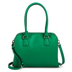 Women s Double Zipper Pocket Crossbody Satchel Handbag - Green Borse  Satchel 1d975b1fcaf