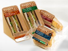 sandwich packaging - Google zoeken Croissant Sandwich, Sandwich Bar, Veggie Sandwich, Sandwich Recipes, Cake Recipes, Gourmet Sandwiches, Dinner Sandwiches, Sandwiches For Lunch, Delicious Sandwiches