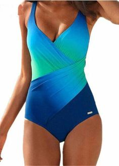 36fe5e9d1a2 Blue Vintage Summer Beachwear Swimwear