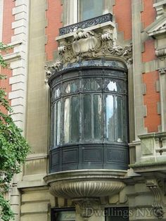 A beautiful Beaux-Arts architecturally styled window, adorning the American Gilded Age era, Duke-Semans Mansion, in NYC. Designed by the New York City Architectural firm of: Welch, Smith & Provot, construction beginning in c.1901. Located at: 1009 Fifth Avenue, NYC.  ~ {cwl} ~ (Image via: dwellingsnyc)