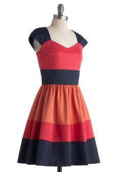 San Francisco Sorbet Dress   Mod Retro Vintage Dresses   ModCloth.com