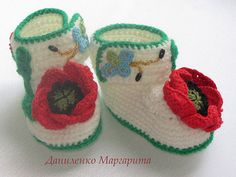 Crochet baby booties.Knitted booties with by CrochetedStories KnittedBooties #CrochetBabyShoes #CrochetBabyBooties #KnitBabyBooties #knitBabyShoes #BabyShowerGift #NewbornGift # KnittedBootiesWithFlower