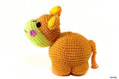 Amigurumi Stuffed Animal Toy, Baby Soft and Safe Crochet Hippo Doll in Orange on Etsy, 127.55₪