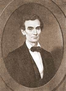 YOUNG ABE LINCOLN GAVE A SPEECH IN KALAMAZOO'S BRONSON PARK WHEN HE WAS SEEKING HIS FIRST TERM AS PRESIDENT.