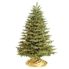 pre lit grand noble artificial christmas tree with traditional stand unlit 9