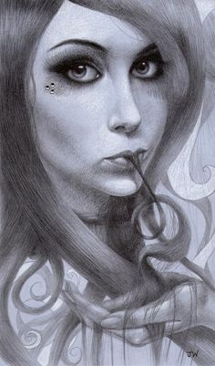 Love this one, her eyes are spooky realistic