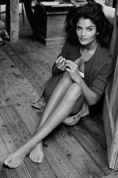 Helena Christensen // By Peter Lindbergh