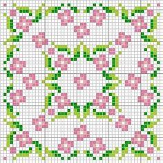 Biscornu pattern Beadwork pattern #heartbeadwork #loomstitch