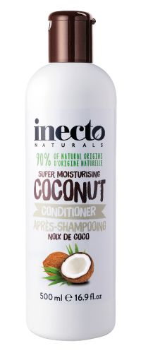 Inecto, Coconut Conditioner  I love this conditioner for my curly hair, it's 90% natural and doesn't contain sulfates, silicons or parabens, and it's very affordable.