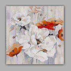 Peint à la main A fleurs/Botanique Peintures à l'huile,Modern / Classique / Traditionnel / Réalisme / Méditerranéen / Pastoral / Style de 5101350 2016 à €71.33