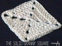 The Solid Granny Square -  a basic square every crocheter should know! Video tutorial in HD on mooglyblog.com  ༺✿Teresa Restegui http://www.pinterest.com/teretegui/✿༻