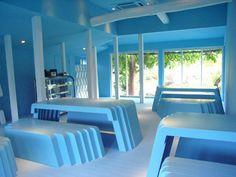 Vinegar Cafe by Himematsu Architecture #blue #cafe