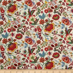 From the world famous Liberty Of London, this exquisite cotton lawn fabric is finely woven, silky, very lightweight and ultra soft. This gorgeous fabric is oh so perfect for flirty blouses, dresses, lingerie, even quilting. Colors include cream, shades of green, shades of red, orange, and blue.