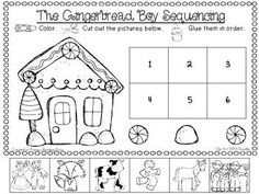 gingerbread man sequencing worksheet - Google Search