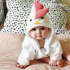 Baby in a chicken suit