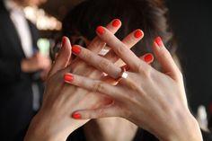 nail polish + ring.