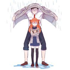 mery (Pixiv2750098), Gekkan Shoujo Nozaki-kun, Sakura Chiyo, Nozaki Umetarou, Humor, Rain