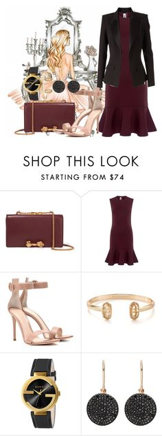 """""""Untitled #801"""" by brandi-gurrola on Polyvore featuring Valentino, McQ by Alexander McQueen, Gianvito Rossi, Kendra Scott, Gucci, Astley Clarke and Alexandre Vauthier"""