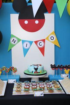 fiesta Mickey Mouse para pequeño fan 1 Fiesta para un pequeño fan de Mickey Mouse