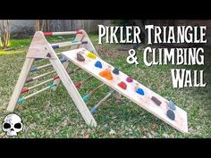 How to Make a Kids Wooden Climber (Pikler Triangle): The Pikler Triangle is a climbing frame for kids that was developed by a Hungarian Pediatrician named Emmi Pikler many years ago. It helps kids improve gross motor skills, confidence, and basically teaches them awesome skills. We love it, and if y...