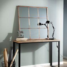 Miroir design en m tal dor multi facettes emde miroir for Fenetre quadrillee