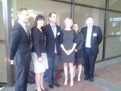 Mayor Hardaker and event presenters