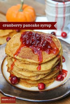 2 Ingredient Cranberry Pancake Syrup Made From Leftover Cranberry Sauce! So smart!
