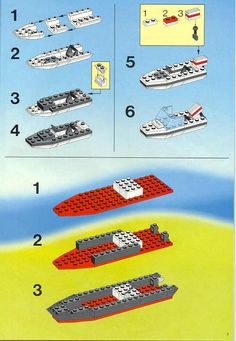 LEGO 6540 Pier Police instructions displayed page by page to help you build this amazing LEGO Town set Lego Police Car, Lego Helicopter, Lego Craft, Lego Design, Lego Projects, Lego Instructions, Cool Lego, Lego Building, Lego City