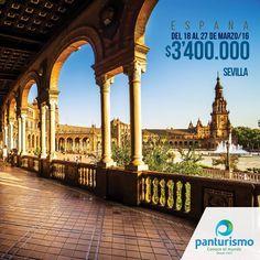 En semana Santa por España conoce Sevilla la capital de Andalucía, uno de los lugares más apreciados de España por su influencia arquitectónica musulmana. Para más información llámanos en Cali al 668 2255 y en Bogotá 606 9779