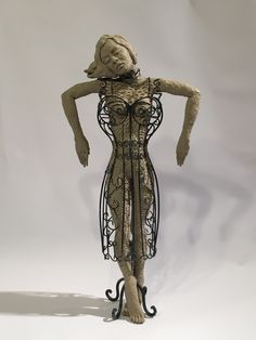 clay and wire by Anna Mueller Figurative, Anna, Wire, Clay, Sculpture, Statue, Clays, Sculpting, Sculptures