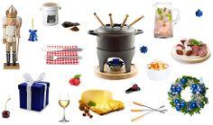 Les essentiels pour la traditionnelle veillée fondue. Fondue, Traditional, Meal