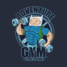 """Welcome to """"Adventure Gym"""" where Finn, he trains for every adventure! It's time to Fitness."""