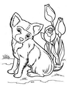 dog color pages printable | Puppy Coloring Pages - Free Printable Pictures Coloring Pages For Kids