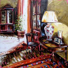 Home - Roisin O'Farrell House Painting, Painting Art, Building Art, Colorful Paintings, Take Me Home, Room Interior, Acrylics, Colorful Interiors, Architecture Art