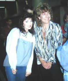Robert Plant of Led Zeppelin with Kate Bush