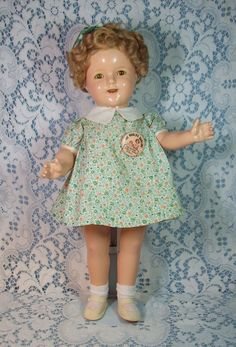 Extremely Rare PROTOTYPE Shirley Temple Doll (Sticker Inside of Head)