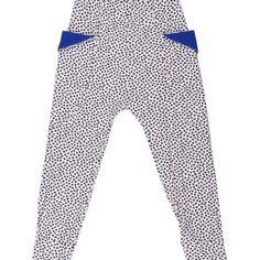 Pale pink baggy pants with black dots and blue pocket detail. Designed in Copenhagen, Denmark. Ss 2017, Black Dots, Pocket Detail, Copenhagen, Kids Playing, Kids Fashion, Pajama Pants, Comfy, Bang Bang