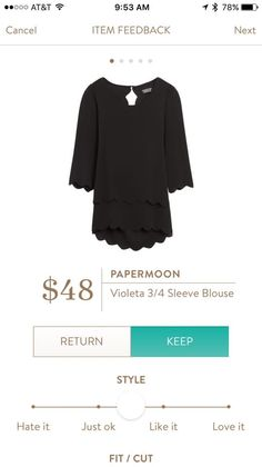 Papermoon 3/4 Blouse - love the details