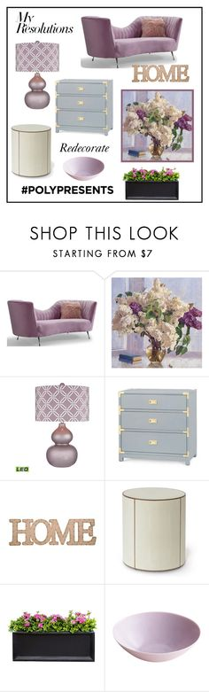 """""""#PolyPresents: New Year's Resolutions"""" by muskrosevintage ❤ liked on Polyvore featuring interior, interiors, interior design, home, home decor, interior decorating, Dimond, Bungalow 5, Home Essentials and Palecek"""