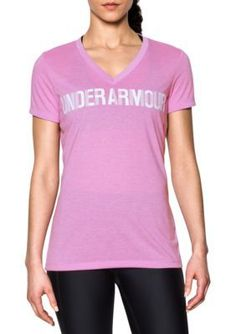 Under Armour Women's Threadborne Short Sleeve Tee - Icelandic Rose/White - Xl