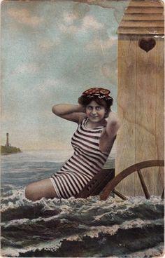 Seaside Scene Postcard
