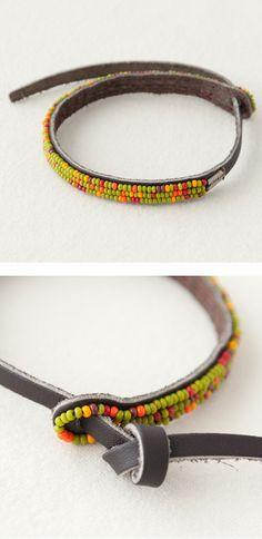 Interesting closure...  CHAN LUU seed beads bracelet