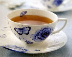 """""""Blue Butterflies"""" by Wedgwood, as featured in the May/June 2009 issue of Victoria magazine."""