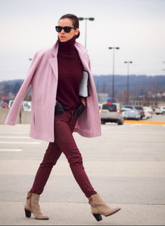 Image result for burgundy orange editorial color outfit