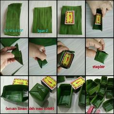 Step by step Acuan kuih limas Unique Recipes, Asian Recipes, Bakery Recipes, Cooking Recipes, Thai Dessert, Leaf Crafts, Food Packaging Design, Food Decoration, Indonesian Food